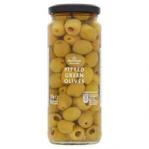 Morrisons whole Green Olives-0