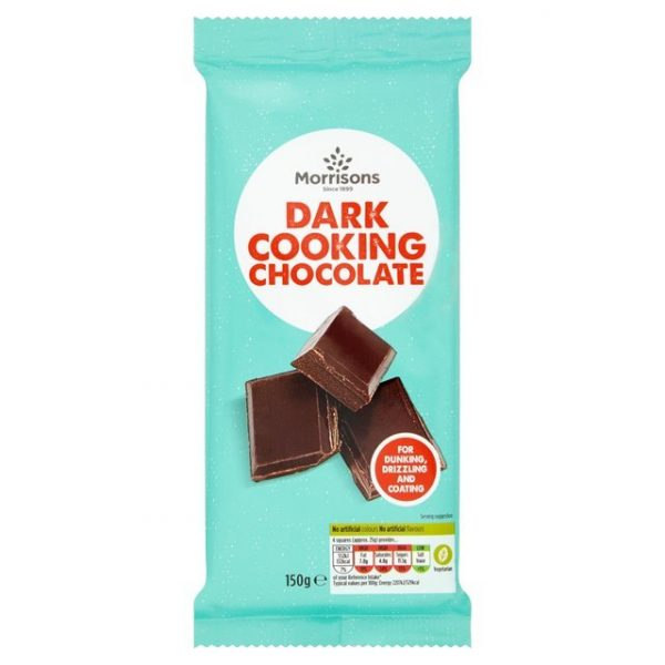 Morrisons Cooking Dark Chocolate-16289