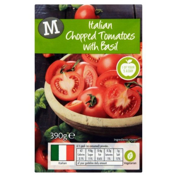 Morrisons Italian Chopped Tomatoes with Basil-15123
