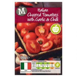 Morrisons Chopped Tomatoes with Garlic & Chilli-0