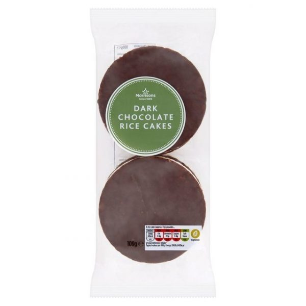 Morrisons Thin Dark Chocolate Rice Cakes-0