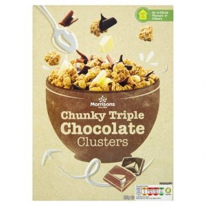 Morrisons Clusters Chunky Triple Chocolate-0