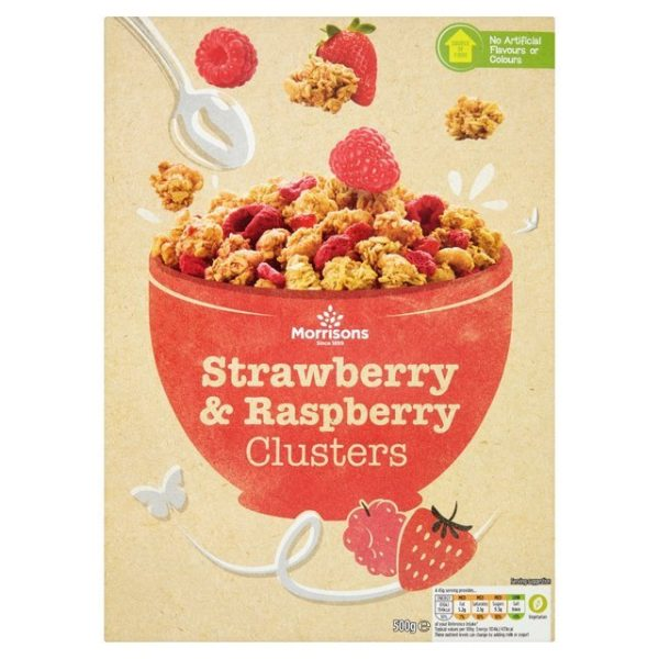 Morrisons Clusters Strawberry & Raspberry-16170
