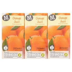 Morrisons Orange Juice 3 x 200ml-0