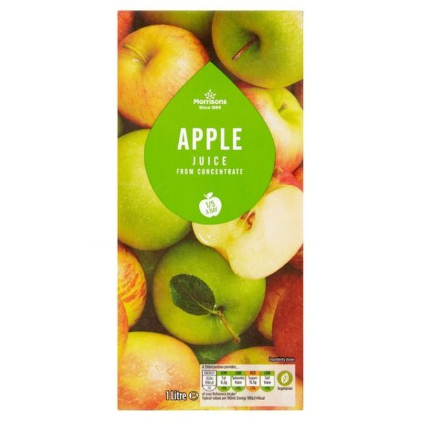 Morrisons Apple Juice From Concentrate-16034