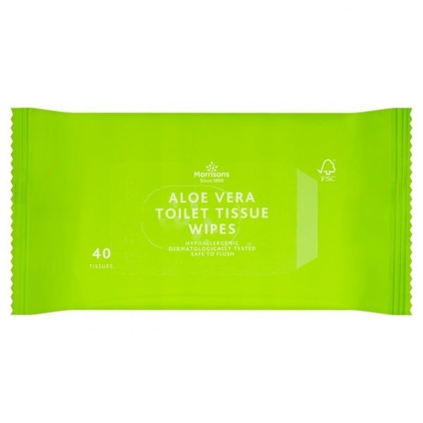 Morrisons Softer Aloe Vera Moist Toilet Tissue Wipes-0