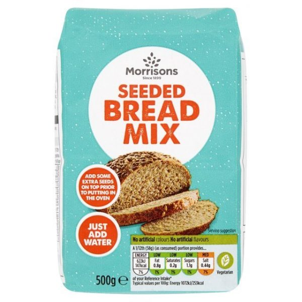 Morrisons Crusty Seeded Bread Mix-17142