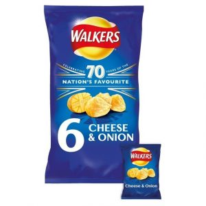 Walkers Cheese & Onion Crisps-0