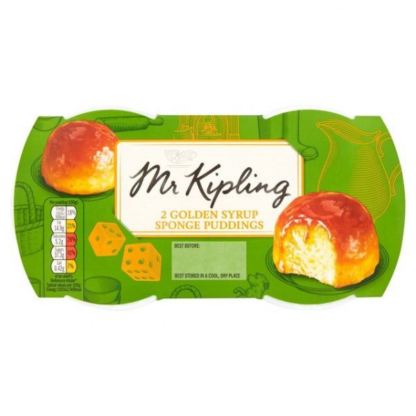 Mr Kipling Golden Syrup Sponge Puddings-0