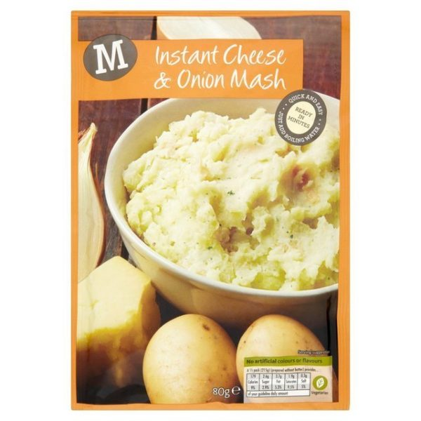Instant Cheese and Onion Mash