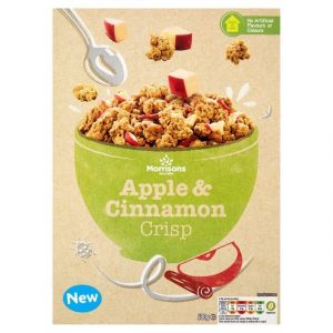 Morrisons Apple & Cinnamon Granola Crisps-0