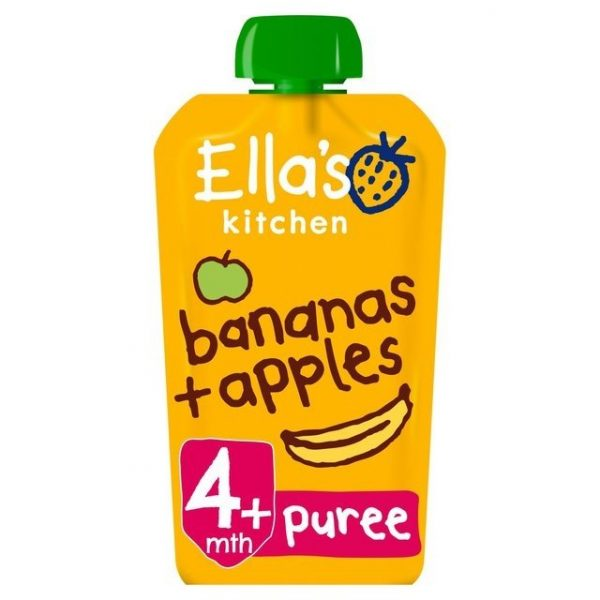 Ella's Kitchen 4 Mths+ Organic Apples & Bananas 120g-0