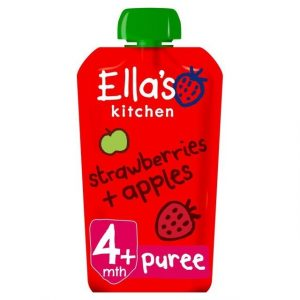 Ella's Kitchen 4 Mths+ Organic Strawberries & Apples 120g-0