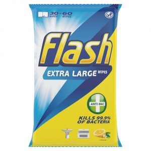 Flash Anti-Bacterial Cleaning Wipes 60X-0