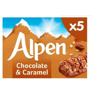 ALPEN CARAMEL and CHOC BARS